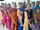 voters in the que for first phase of lok sabha election  ani pic