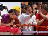 union minister smriti irani and rahul  priyanka gandhi  file pic