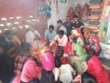 नवरात्रि के समापन पर रहमतगंज में हुआ यज्ञ