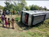 supaul  18 policemen injured when bus overturned in highway during carrying security forces for lok