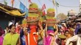 उत्साहित दिखे रामभक्त, धूमधाम के साथ निकाली शोभायात्रा