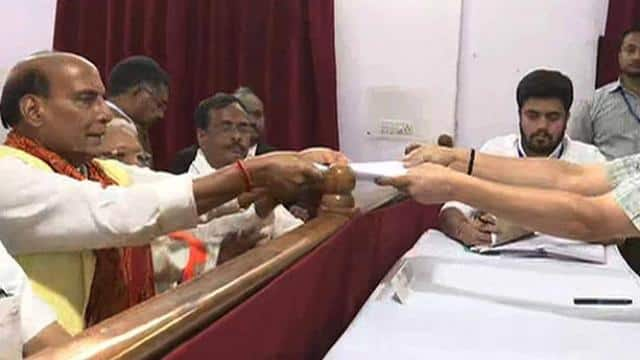 home minister rajnath singh files his nomination from lucknow constituency