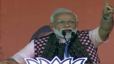 odisha  prime minister narendra modi addresses an election public rally in sambalpur