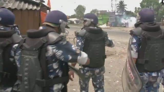 violence in west bengal during second phase of election  ani pic