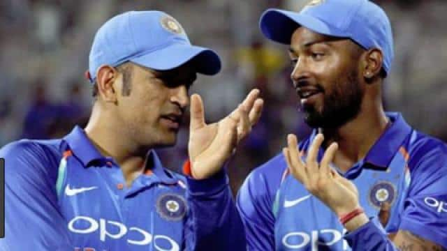 ms dhoni and hardik pandya