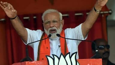 prime minister narendra modi addresses an election rally at araria