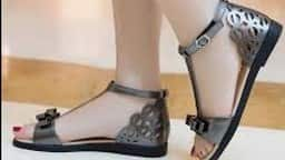 girls sandal in summer