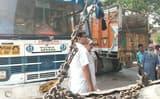 त्रिलोकपुरी दिल्ली से चोरी हुई बस नजीबाबाद में बरामद