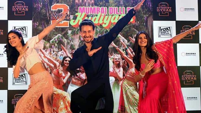 bollywood actors during song launch of their upcoming film student of the year 2