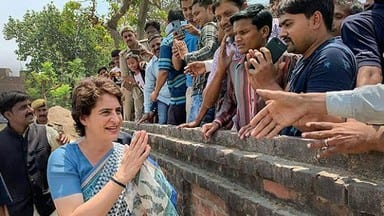 fatehpur  priyanka gandhi vadra during an election campaign for lok sabha elections fatehpur