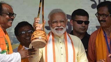 ls polls 2019  pm modi during a political rally in birbhum west bengal