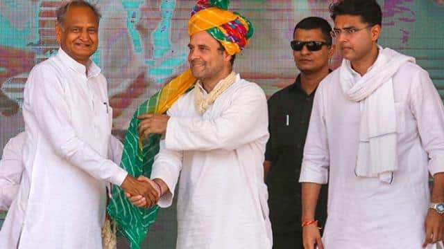 congress president rahul gandhi during an election rally in ajmer