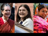 upa chairperson sonia gandhi and union ministers maneka gandhi and smriti irani are among the women
