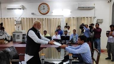 pm narendra modi files his nomination papers from varanasi lok sabha parliamentary constituency