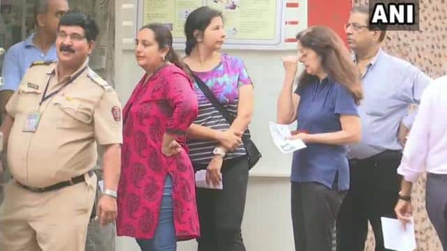 voters queue outside polling booth number 40   41 in south mumbai parliamentary constituency