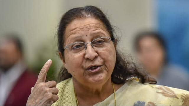 current speaker sumitra mahajan  an eight-term parliamentarian  announced her decision to not fight