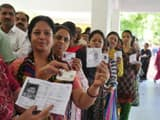 people queue up at a polling station in lucknow during phase five of lok sabha elections   deepak gu