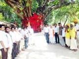 भगवान परशुराम जयंती पर निकाली गई पद यात्रा