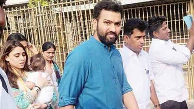 rohit sharma with wife and daughter