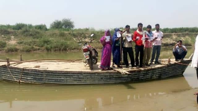 voter on boat
