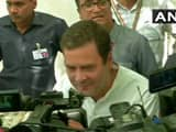 congress president rahul gandhi after casting his vote