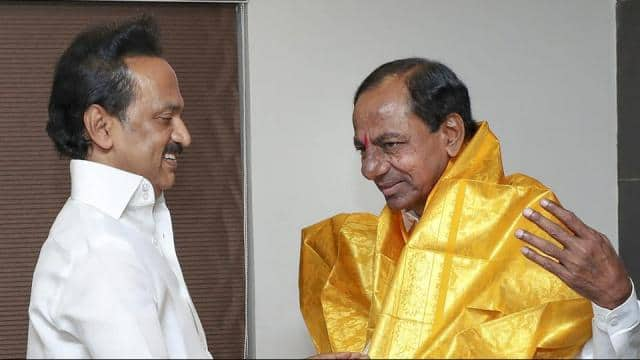 telangana rashtra samithi  trs  chief and telangana chief minister k chandrasekhar rao on monday met