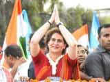 priyanka gandhi road show in varanasi