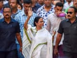 west bengal chief minister and trinamool congress chief mamata banerjee in a protest rally against t