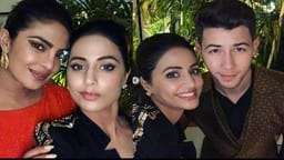 hina khan enjoy chopard party with priyanka nick jonas