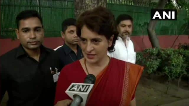 congress general secretary up east priyanka gandhi  ani pic