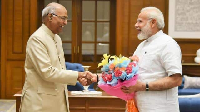 pm narendra modi meet today with the president ramnath kovind  claim to make a new government