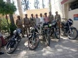 चोरी की पांच बाइकों के साथ तीन लोग गिरफ्तार