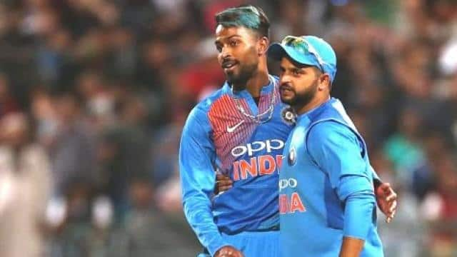 hardik pandya and suresh raina