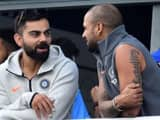 virat kohli and shikhar dhawan  afp