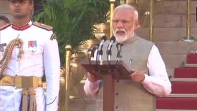 prime minister narendra modi during oath taking ceremony  ani pic