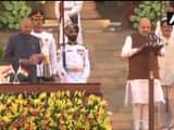 narendra modi swearing in ceremony bjp president amit shah