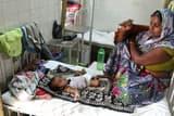 बुखार और डायरिया से बेहाल छह बच्चे भर्ती