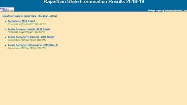 RBSE 8th result 2019 live updates: Rajasthan Board Class 8