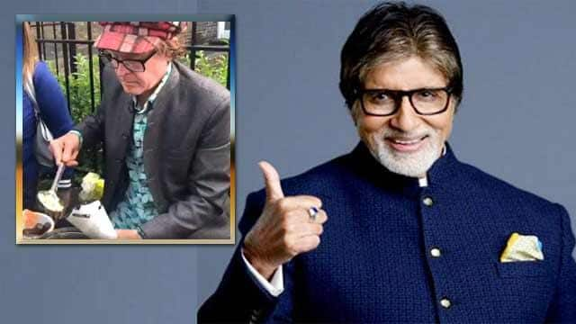 amitabh bachchan tweets about foreigner selling bhel puri outside oval cricket ground