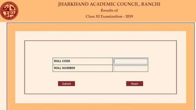 jac 11th examination result 2019
