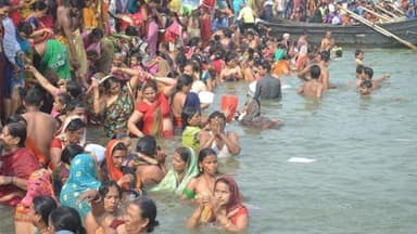 ganga dussehra 2019  devotees take holy dip in river ganga