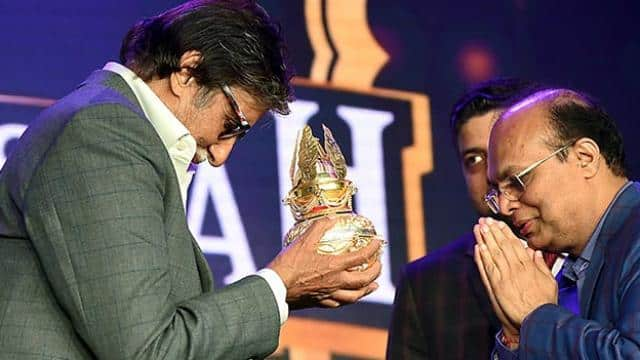 bollywood actor amitabh bachchan during a promotional event in mumbai