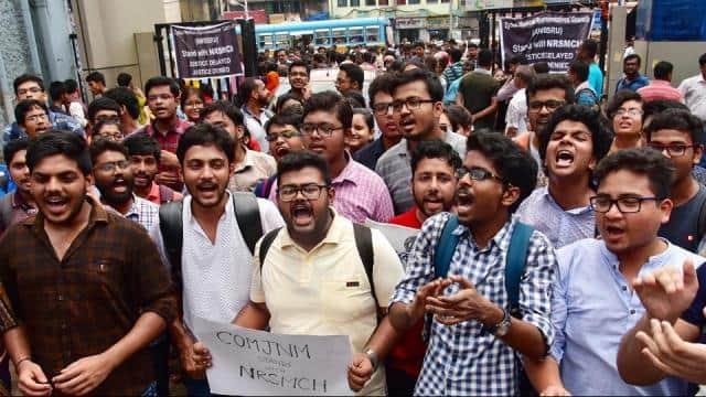 junior doctors on strike in kolkata