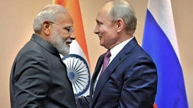 russian president vladimir putin meets with indian prime minister narendra modi on sco summit in bis