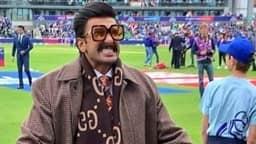 INDvsPAK: भारतीय टीम को चीयर करने कुछ इस अंदाज में पहुंचे रणवीर सिंह