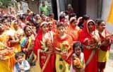 हिंदू -मुस्लिम  एकता के बीच निकला भव्य कलश यात्रा