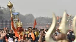 supporters and members of vishwa hindu parishad   s  vhp  during a rally  ht   photo