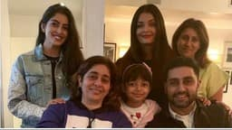 aishwarya rai    abhishek bachchan    nanya nanda and aaradhya pose for a photograph in new york  instag