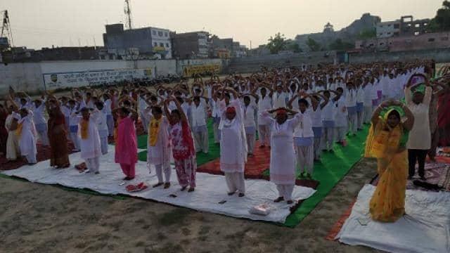 अंतरराष्ट्रीय योग दिवस पर हर वर्ग के लोगों ने किया योगाभ्यास