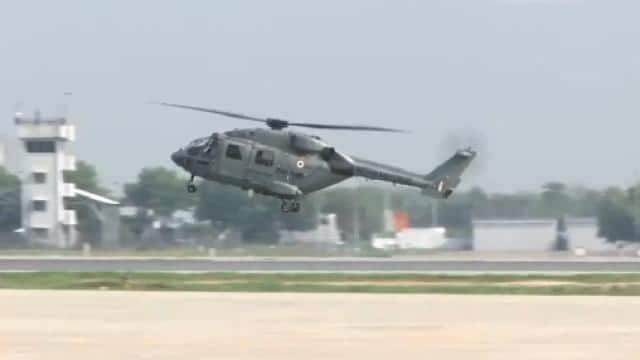 helicopter at gwalior air base
